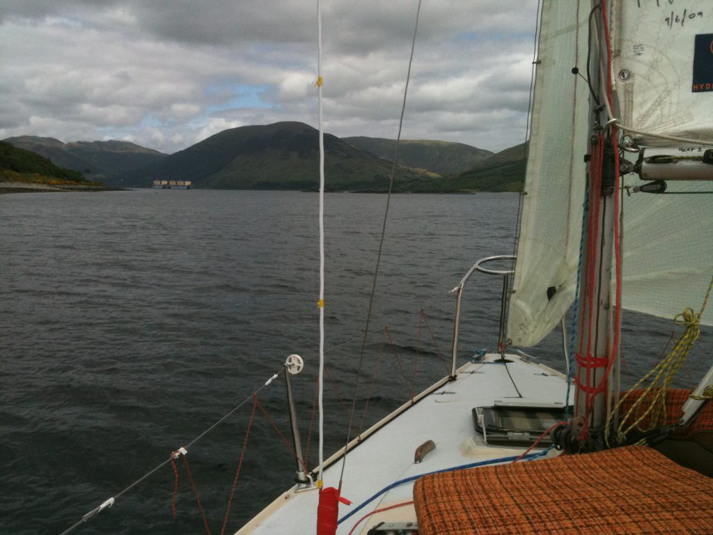 Scenic view over the foredeck