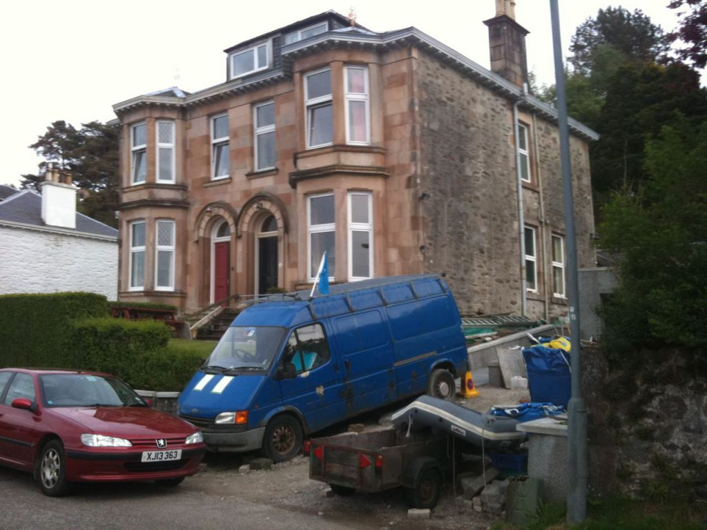 Millicent's house with parked van