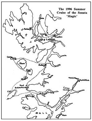 Western Isles map showing route