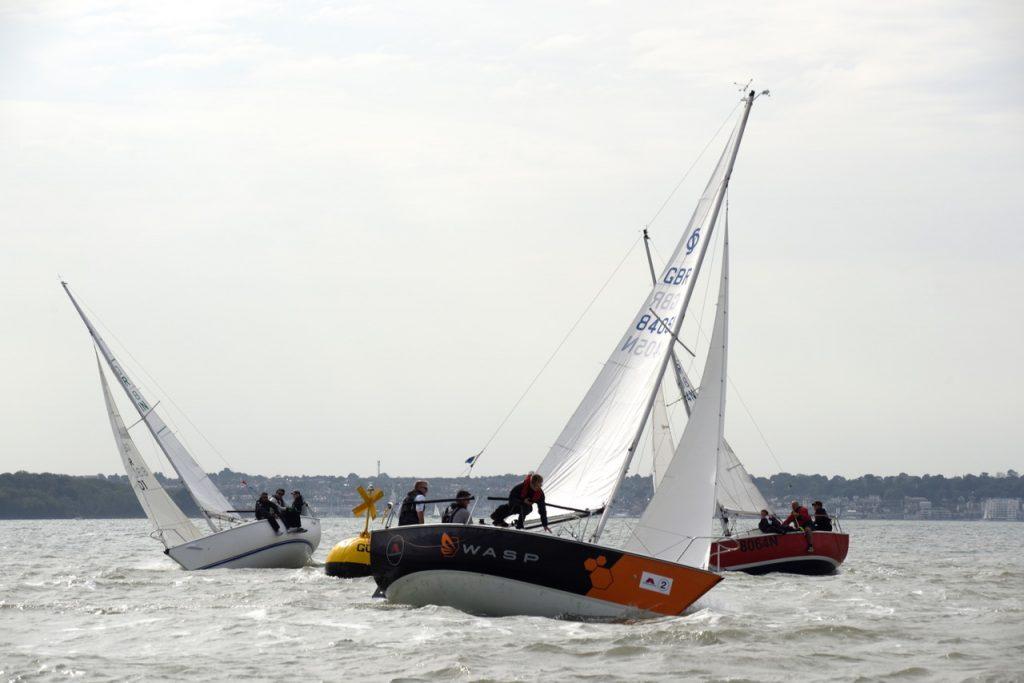Close action at a buoy